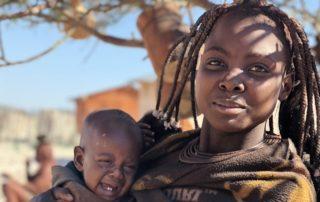 namibian mother and child