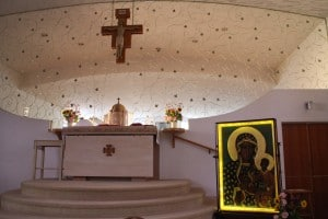 The public chapel at the Immaculate Heart Monastery of the Poor Clares