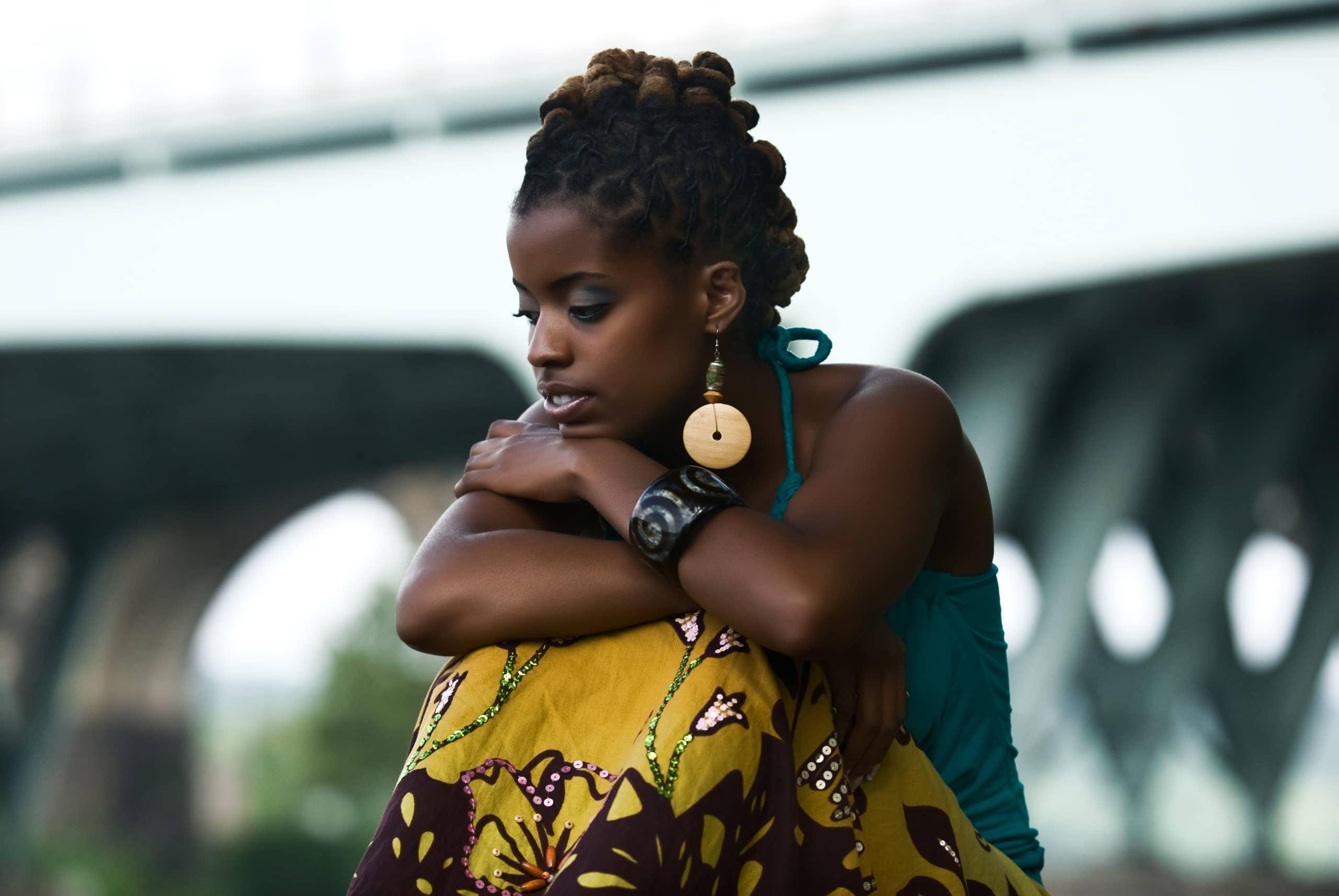 sad african woman