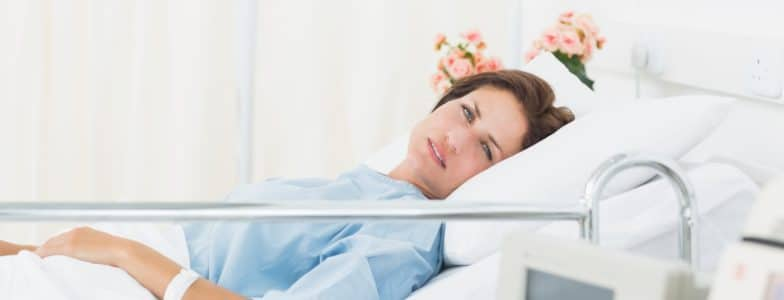 hospitalized woman