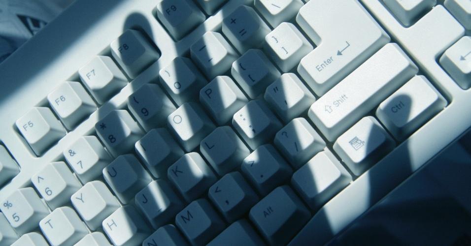 shadow over keyboard