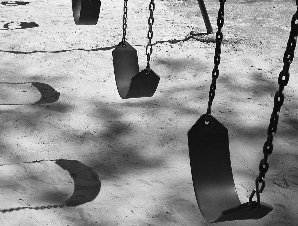 Empty Swings, deserted playground - antinatalism